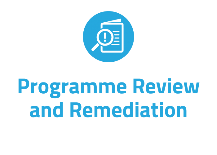 Programme review and remediation for the financial services, pension and insurance industry in Ireland
